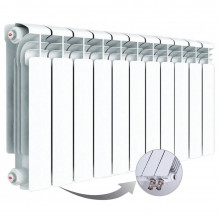 Алюминиевый радиатор Rifar Alum Ventil 350, 11 секций, с нижним левым подключением