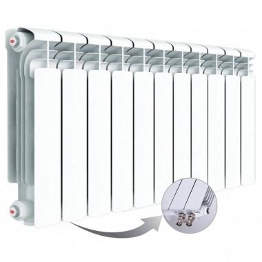 Алюминиевый радиатор Rifar Alum Ventil 350, 11 секций, с нижним правым подключением