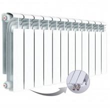 Алюминиевый радиатор Rifar Alum Ventil 350, 12 секций, с нижним левым подключением