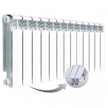 Алюминиевый радиатор Rifar Alum Ventil 350, 13 секций, с нижним левым подключением