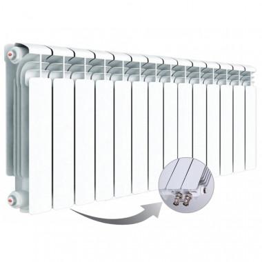 Алюминиевый радиатор Rifar Alum Ventil 350, 14 секций, с нижним левым подключением