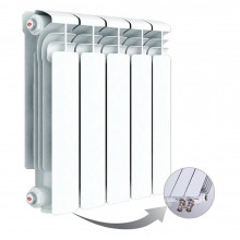 Алюминиевый радиатор Rifar Alum Ventil 350, 5 секций, с нижним левым подключением