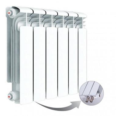Алюминиевый радиатор Rifar Alum Ventil 350, 6 секций, с нижним правым подключением