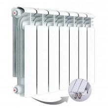 Алюминиевый радиатор Rifar Alum Ventil 350, 7 секций, с нижним левым подключением