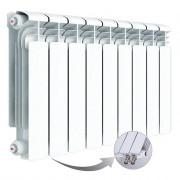 Алюминиевый радиатор Rifar Alum Ventil 350, 9 секций, с нижним правым подключением