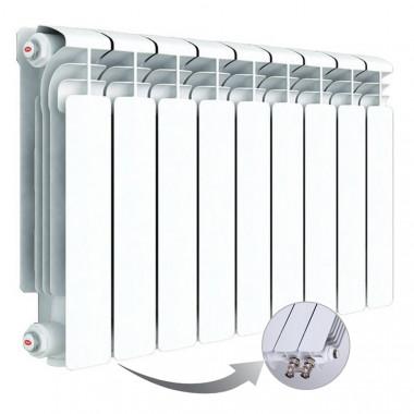Алюминиевый радиатор Rifar Alum Ventil 350, 9 секций, с нижним левым подключением