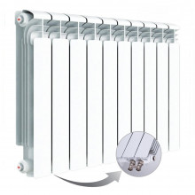 Алюминиевый радиатор Rifar Alum Ventil 350, 10 секций, с нижним левым подключением