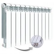Алюминиевый радиатор Rifar Alum Ventil 500, 11 секций, с нижним правым подключением