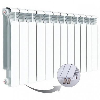 Алюминиевый радиатор Rifar Alum Ventil 500, 12 секций, с нижним левым подключением