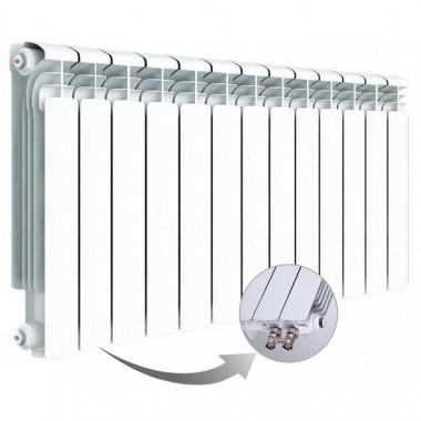 Алюминиевый радиатор Rifar Alum Ventil 500, 13 секций, с нижним левым подключением