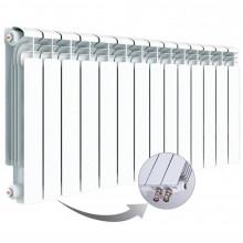 Алюминиевый радиатор Rifar Alum Ventil 500, 14 секций, с нижним правым подключением
