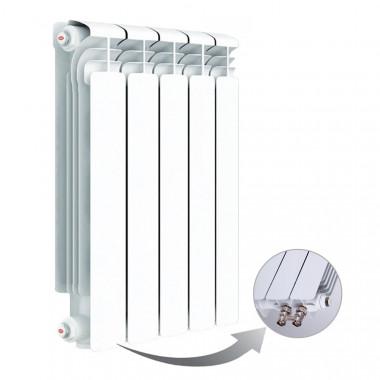 Алюминиевый радиатор Rifar Alum Ventil 500, 5 секций, с нижним левым подключением
