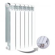 Алюминиевый радиатор Rifar Alum Ventil 500, 6 секций, с нижним правым подключением