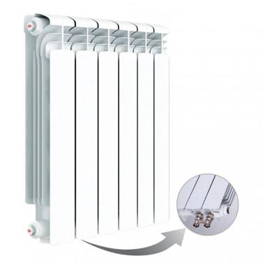 Алюминиевый радиатор Rifar Alum Ventil 500, 6 секций, с нижним левым подключением
