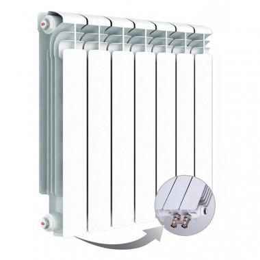 Алюминиевый радиатор Rifar Alum Ventil 500, 7 секций, с нижним левым подключением