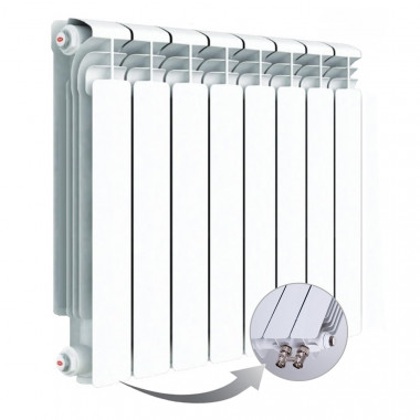 Алюминиевый радиатор Rifar Alum Ventil 500, 8 секций, с нижним левым подключением