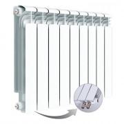 Алюминиевый радиатор Rifar Alum Ventil 500, 9 секций, с нижним правым подключением