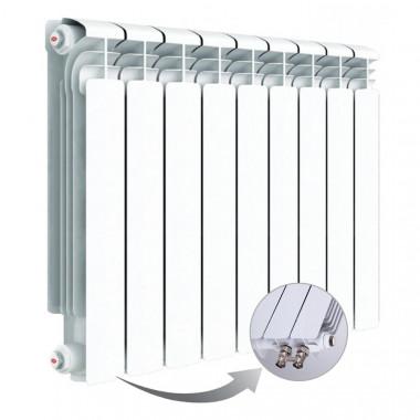 Алюминиевый радиатор Rifar Alum Ventil 500, 9 секций, с нижним левым подключением