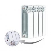 Биметаллический радиатор Rifar Base Ventil 350, 4 секции, с нижним левым подключением