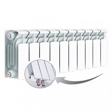 Биметаллический радиатор Rifar Base Ventil 200, 10 секций, с нижним левым подключением