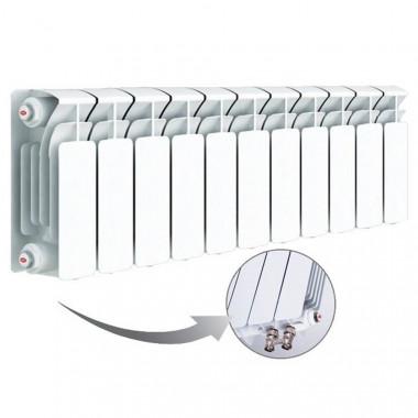 Биметаллический радиатор Rifar Base Ventil 200, 11 секций, с нижним левым подключением