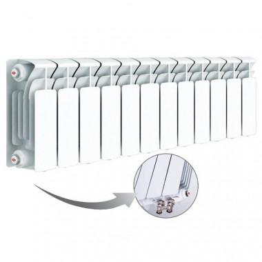 Биметаллический радиатор Rifar Base Ventil 200, 12 секций, с нижним правым подключением
