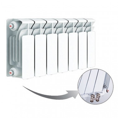 Биметаллический радиатор Rifar Base Ventil 200, 7 секций, с нижним правым подключением