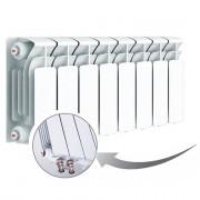 Биметаллический радиатор Rifar Base Ventil 200, 8 секций, с нижним левым подключением