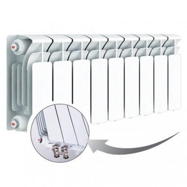 Биметаллический радиатор Rifar Base Ventil 200, 9 секций, с нижним левым подключением