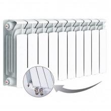 Биметаллический радиатор Rifar Base Ventil 350, 10 секций, с нижним левым подключением