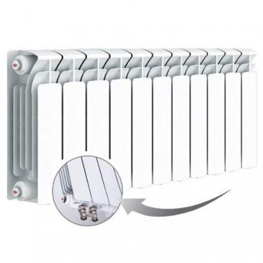 Биметаллический радиатор Rifar Base Ventil 350, 11 секций, с нижним левым подключением