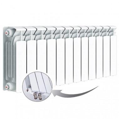 Биметаллический радиатор Rifar Base Ventil 350, 12 секций, с нижним левым подключением