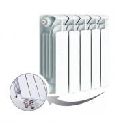 Биметаллический радиатор Rifar Base Ventil 350, 5 секций, с нижним левым подключением