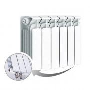 Биметаллический радиатор Rifar Base Ventil 350, 6 секций, с нижним левым подключением