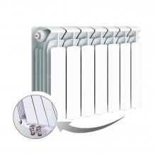 Биметаллический радиатор Rifar Base Ventil 350, 7 секций, с нижним левым подключением