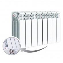 Биметаллический радиатор Rifar Base Ventil 350, 8 секций, с нижним левым подключением