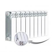 Биметаллический радиатор Rifar Base Ventil 350, 9 секций, с нижним левым подключением