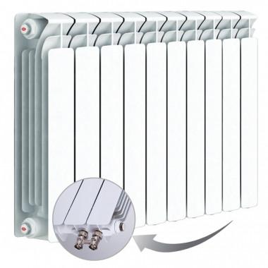 Биметаллический радиатор Rifar Base Ventil 500, 10 секций, с нижним левым подключением
