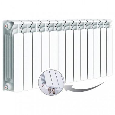 Биметаллический радиатор Rifar Base Ventil 500, 13 секций, с нижним левым подключением