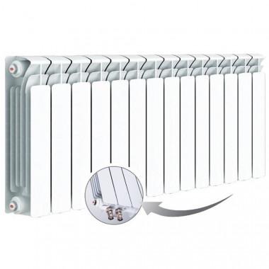 Биметаллический радиатор Rifar Base Ventil 500, 14 секций, с нижним правым подключением