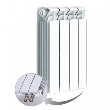 Биметаллический радиатор Rifar Base Ventil 500, 4 секций, с нижним левым подключением
