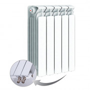 Биметаллический радиатор Rifаr Bаse Ventil 500, 5 секций, с нижним левым подключением