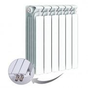 Биметаллический радиатор Rifar Base Ventil 500, 6 секций, с нижним левым подключением