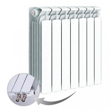 Биметаллический радиатор Rifar Base Ventil 500, 7 секций, с нижним левым подключением