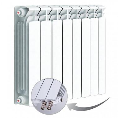 Биметаллический радиатор Rifar Base Ventil 500, 8 секций, с нижним левым подключением