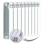 Биметаллический радиатор Rifar Base Ventil 500, 9 секций, с нижним левым подключением