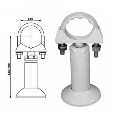 Кронштейн напольный для секционных радиаторов хомут