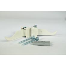 Кронштейн регулируемый угловой Rifar Айвори (RAL1013) 2 штуки