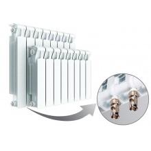 Биметаллический радиатор Rifar Monolit Ventil 350, 4 секции, с нижним левым подключением