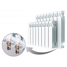 Биметаллический радиатор Rifar Monolit Ventil 500, 4 секции, с нижним правым подключением